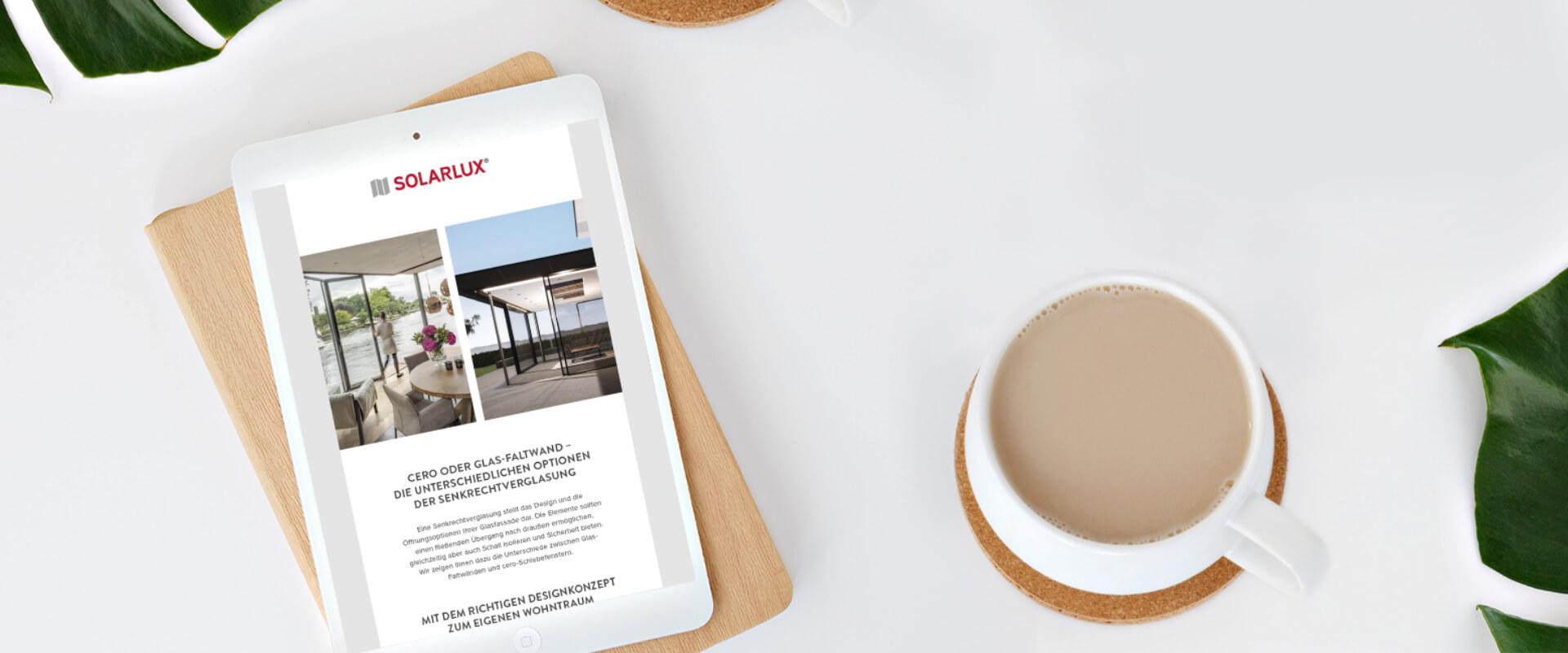 Solarlux Newsletter für cero Schiebefenster