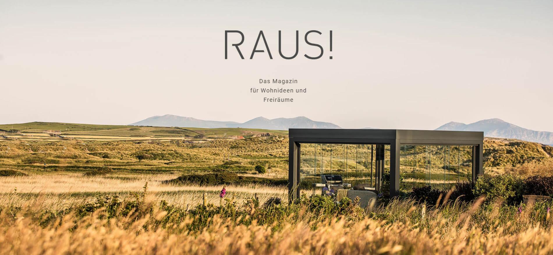 Raus - digitales Kundenmagazin von Solarlux